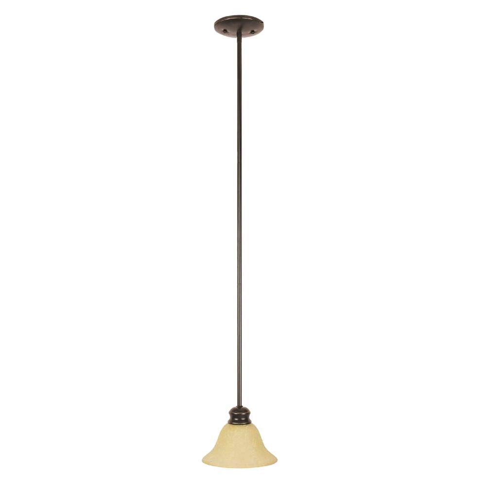Design House Bristol 1-Light Oil Rubbed Bronze Mini Pendant