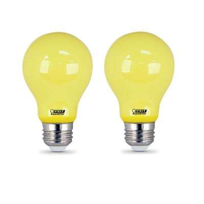 60-Watt Equivalent Yellow-Color A19 LED Bug Light Bulb (2-Pack)