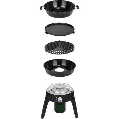 Safari Chef 2 Portable Propane Gas Grill in Black