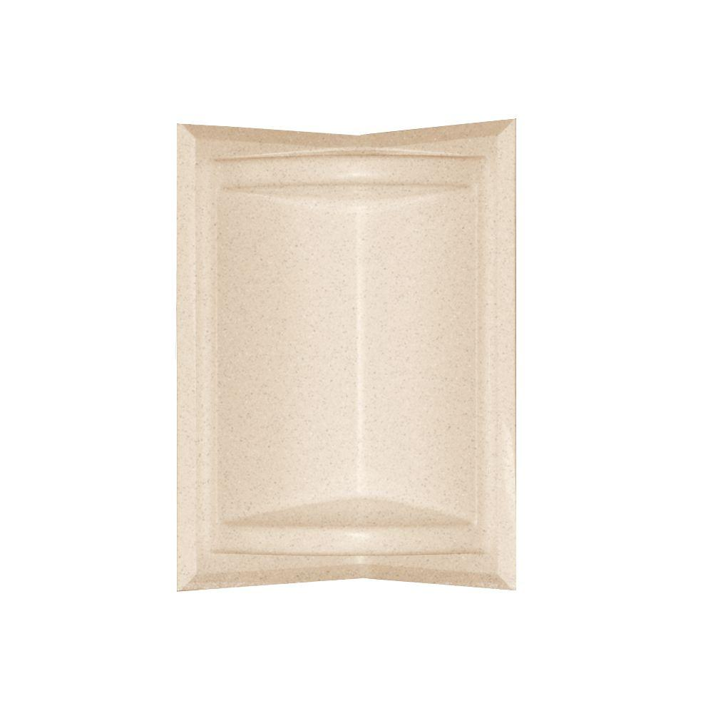 Swan 5.75 in. x 11 in. Corner-Mount Solid Surface Soap Dish in Tahiti Sand