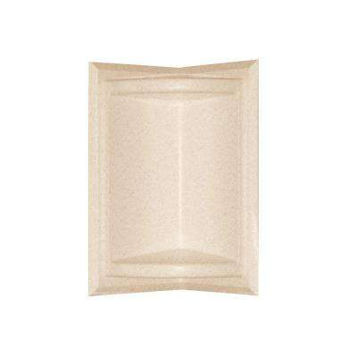 5.75 in. x 11 in. Corner-Mount Solid Surface Soap Dish in Tahiti Sand