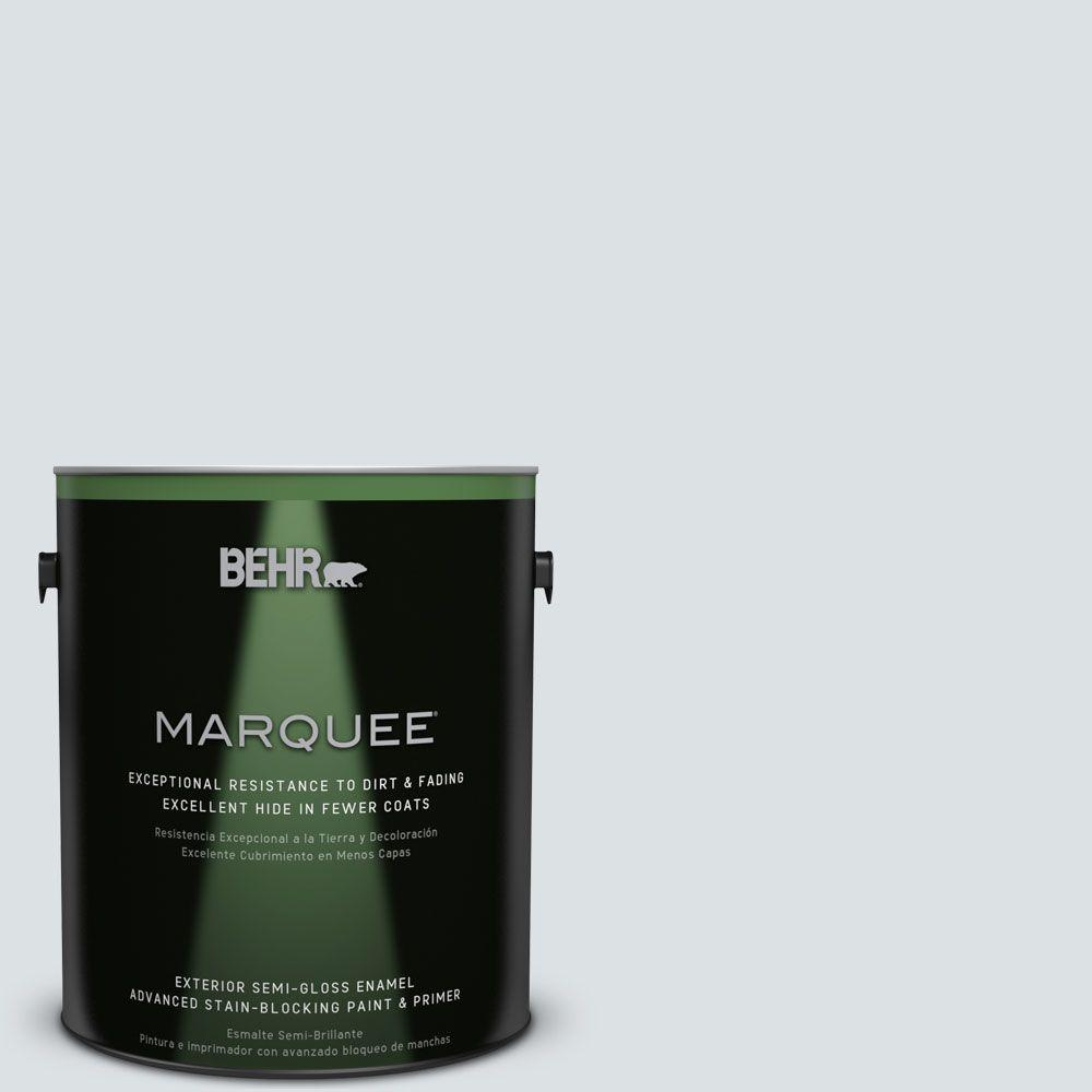 1 gal. #MQ3-27 Etched Glass Semi-Gloss Enamel Exterior Paint
