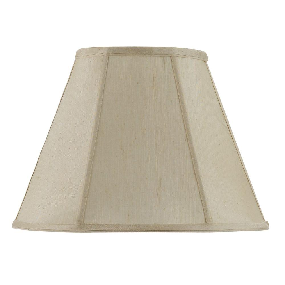 CAL Lighting 20 in. Cream Vertical Piped Basic Empire Shade