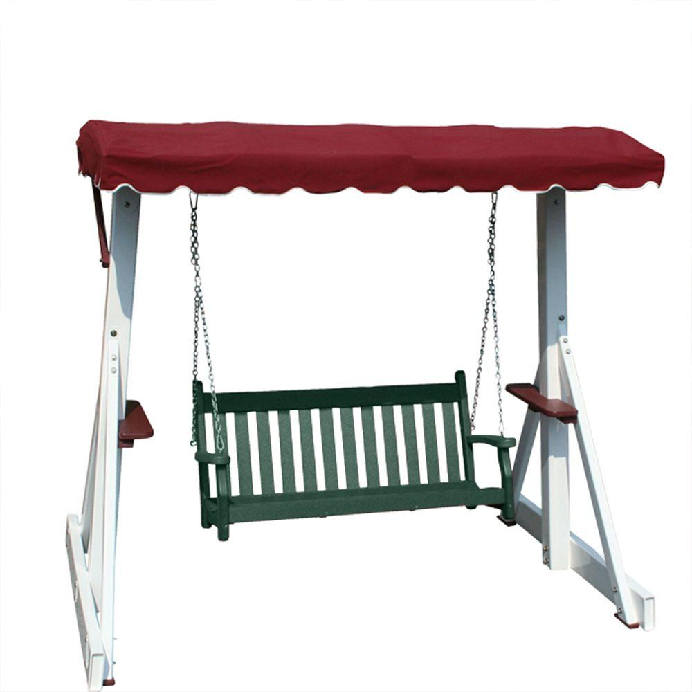Vifah Roch Recycled Plastic Patio Swing in Green-DISCONTINUED