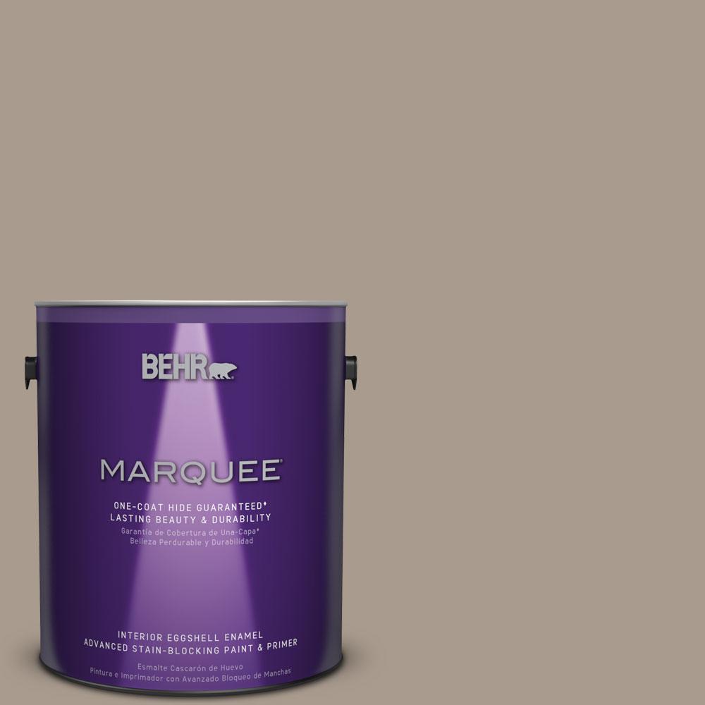 1 gal. #N210-4 Espresso Martini One-Coat Hide Eggshell Enamel Interior Paint