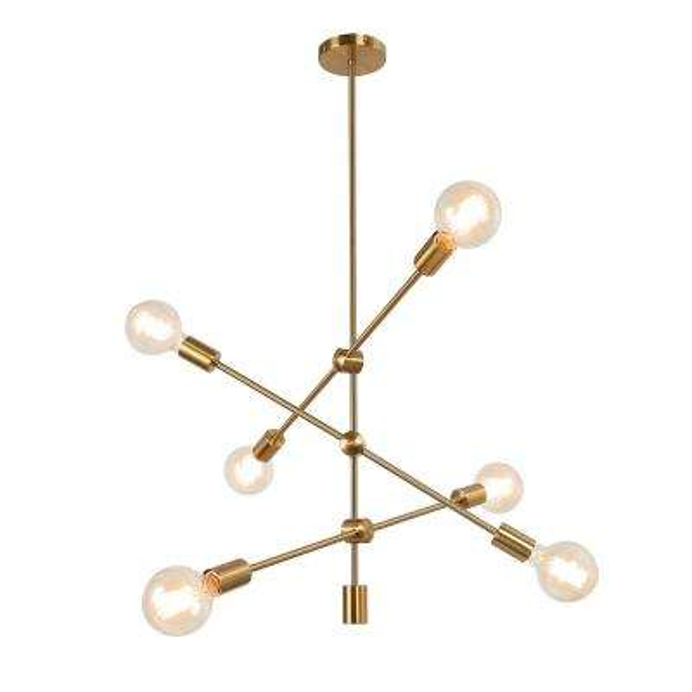 Gideon 6-Light Gold Sputnik Chandelier