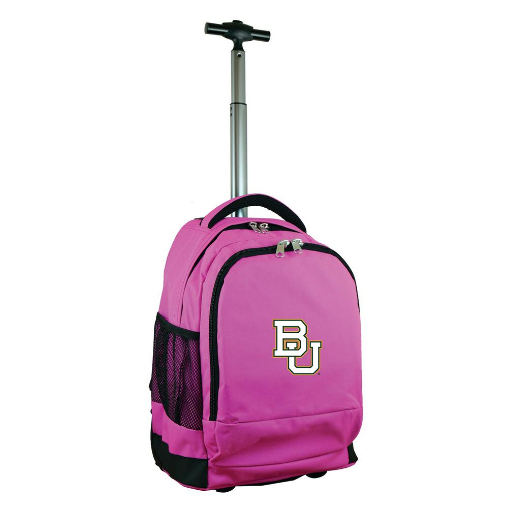 NCAA Baylor 19 in. Pink Wheeled Premium Backpack