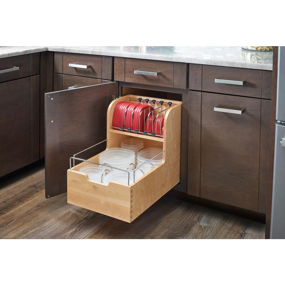 Rev A Shelf 1888 in H x 145 in W x 2156 in D Wood Food Storage