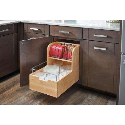 18.88 in. H x 14.5 in. W x 21.56 in. D Wood Food Storage Container Organizer for Base 18 Cabinets