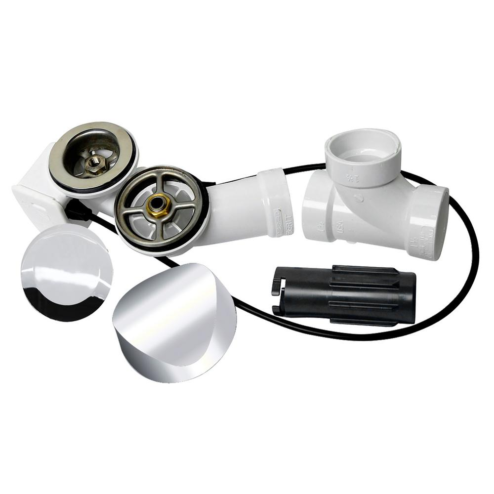 Delta Cable Action Bath Drain and Overflow Kit in Chrome