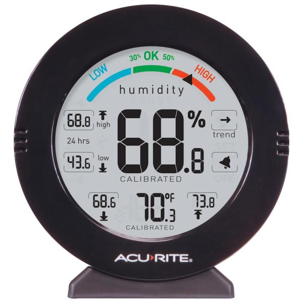 AcuRite-Pro Accuracy Indoor Temperature and Humidity Monitor with Alarms