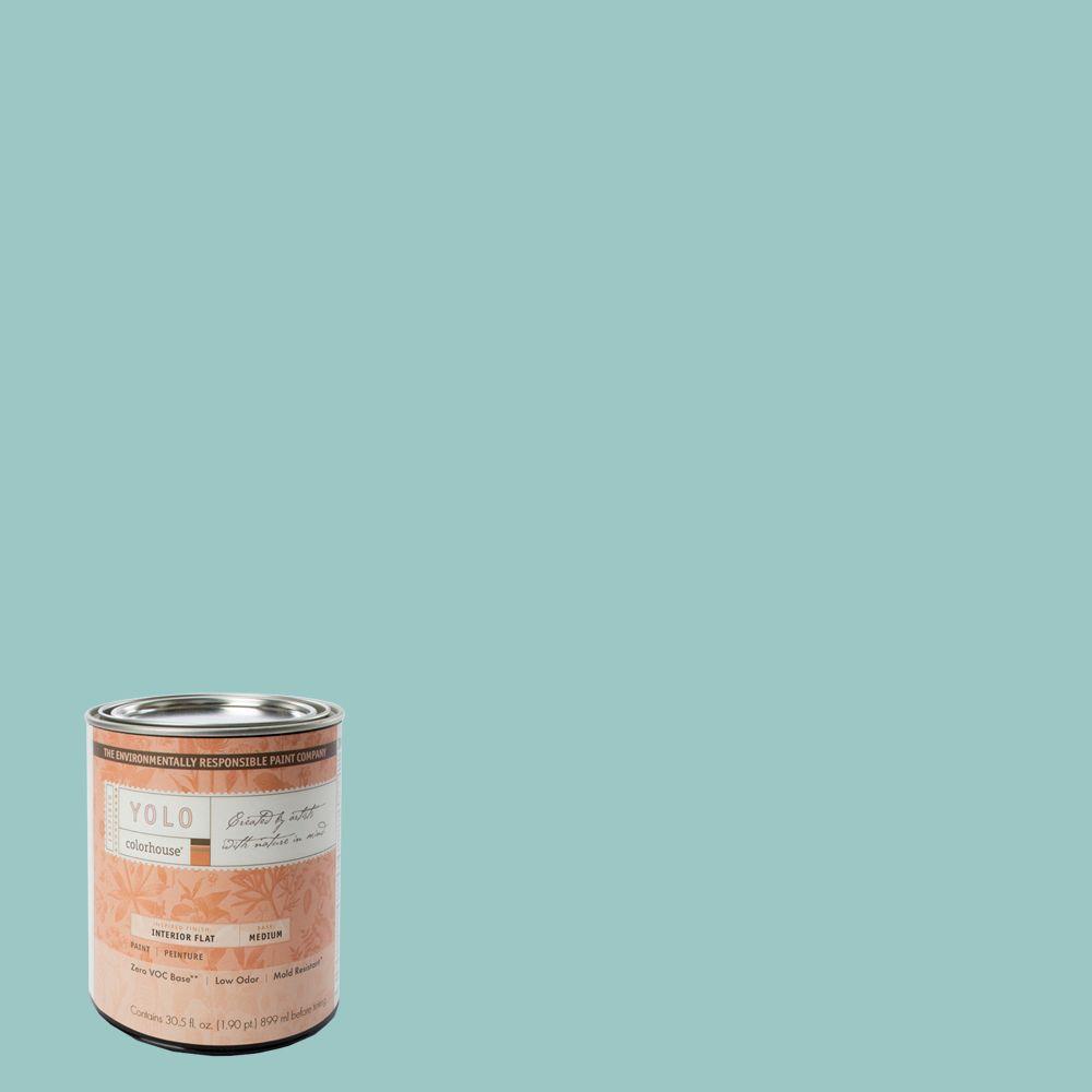 YOLO Colorhouse 1-Qt. Dream .04 Flat Interior Paint-DISCONTINUED