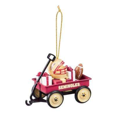 Florida State University 1-3/4 in. NCAA Team Wagon Christmas Ornament