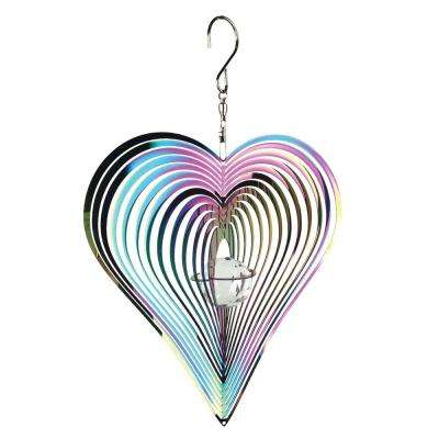 Spinner Iridescent Heart