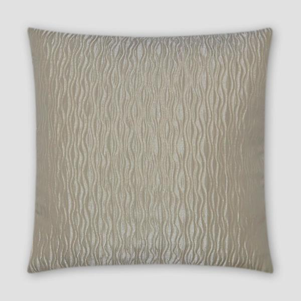 Valencia White Solid Down 18 in. x 18 in. Throw Pillow