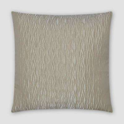 Valencia Ivory Feather Down 18 in. x 18 in. Standard Decorative Throw Pillow