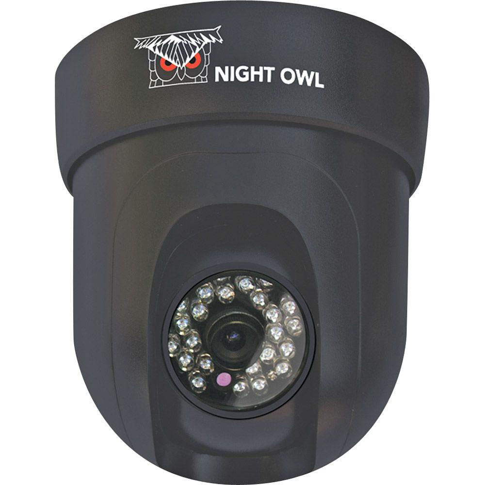 Night Owl Wired 420 TVL Indoor CCD Pan and Tilt Dome-Shaped Security Surveillance Camera-DISCONTINUED