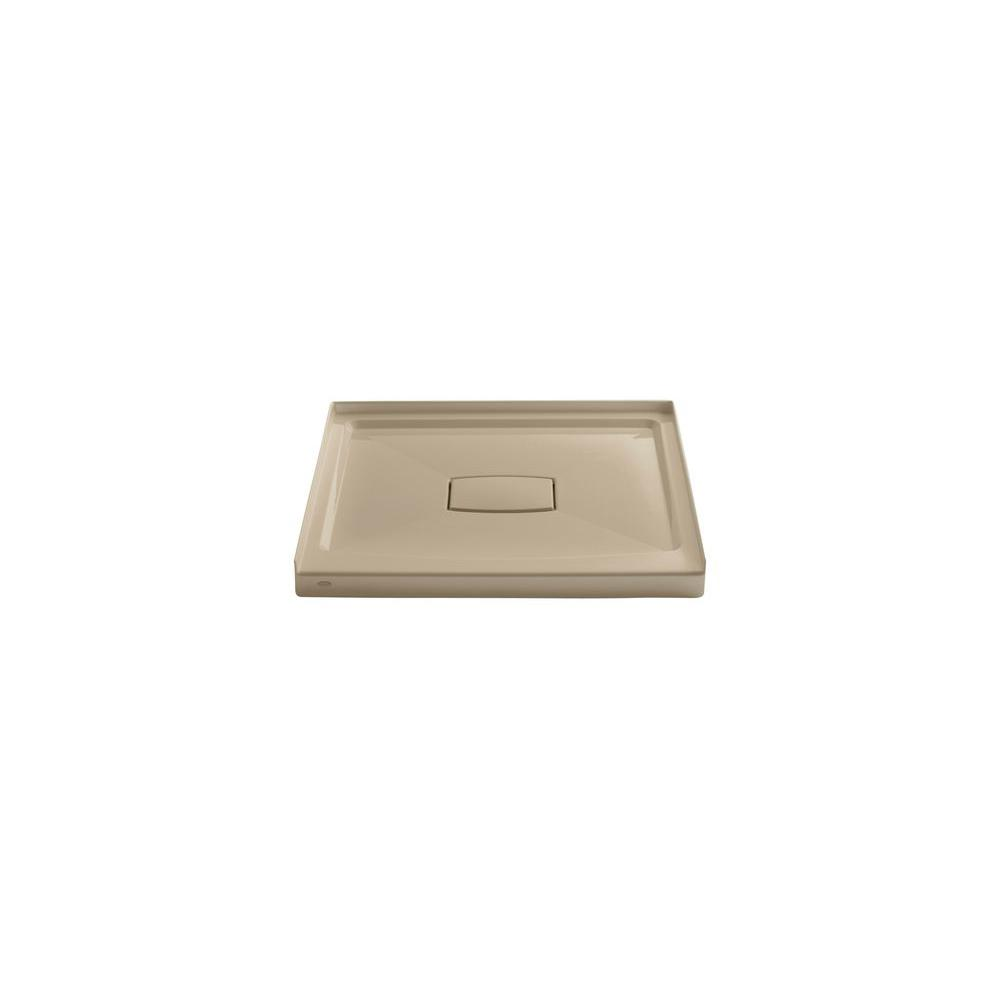 Elegant Single Threshold Shower Base With Removable Cover