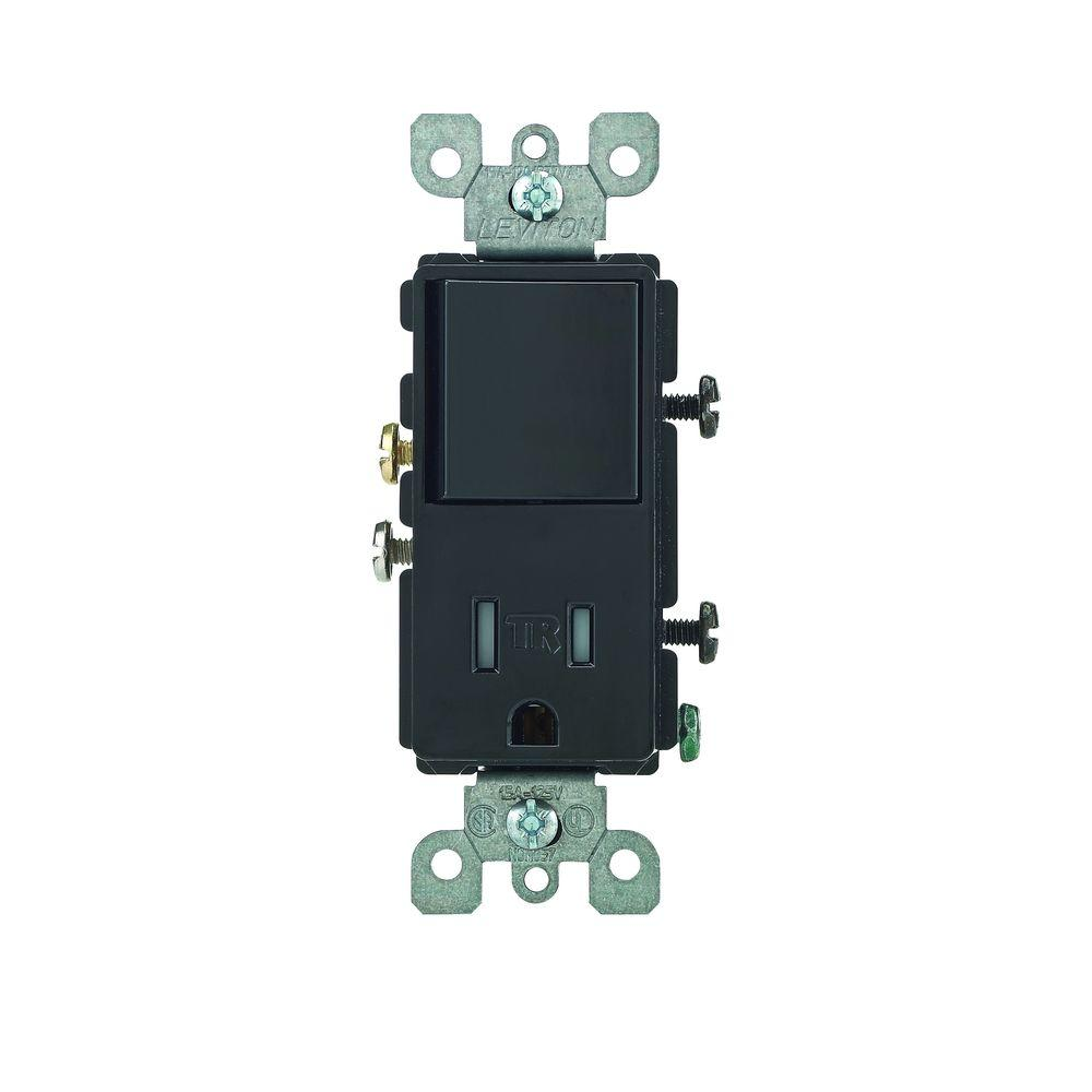 black leviton outlets receptacles r65 t5625 0es 64_1000 leviton decora 15 amp tamper resistant combination switch outlet leviton 5625 wiring diagram at soozxer.org
