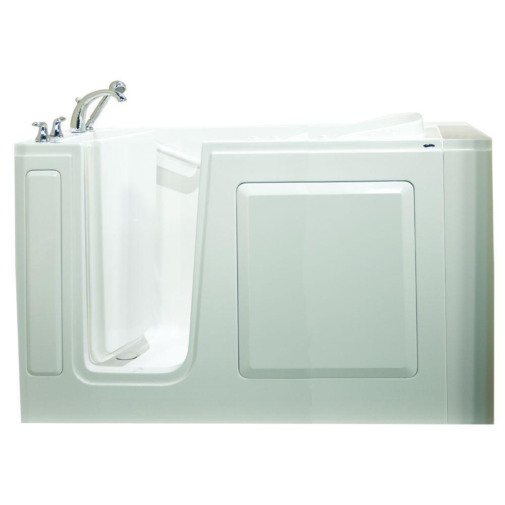 Value Series 51 in. x 31 in. Walk-In Air Bath Tub in White