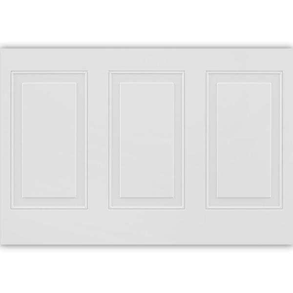 11 sq. ft. 1/4 in. x 32 in. x 48 in. MDF Wainscot Panel