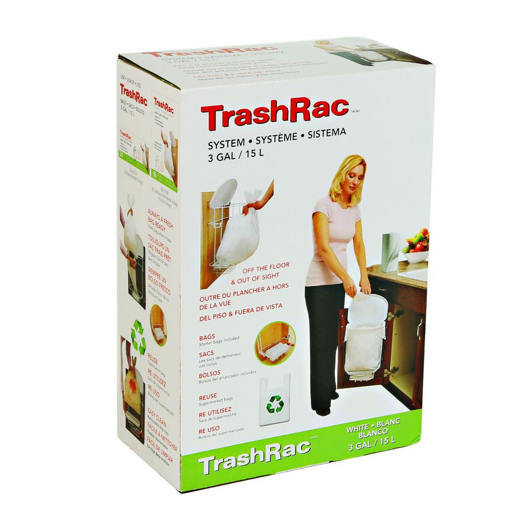 Trashrac 3 Gal Complete Waste System With Starter Bags