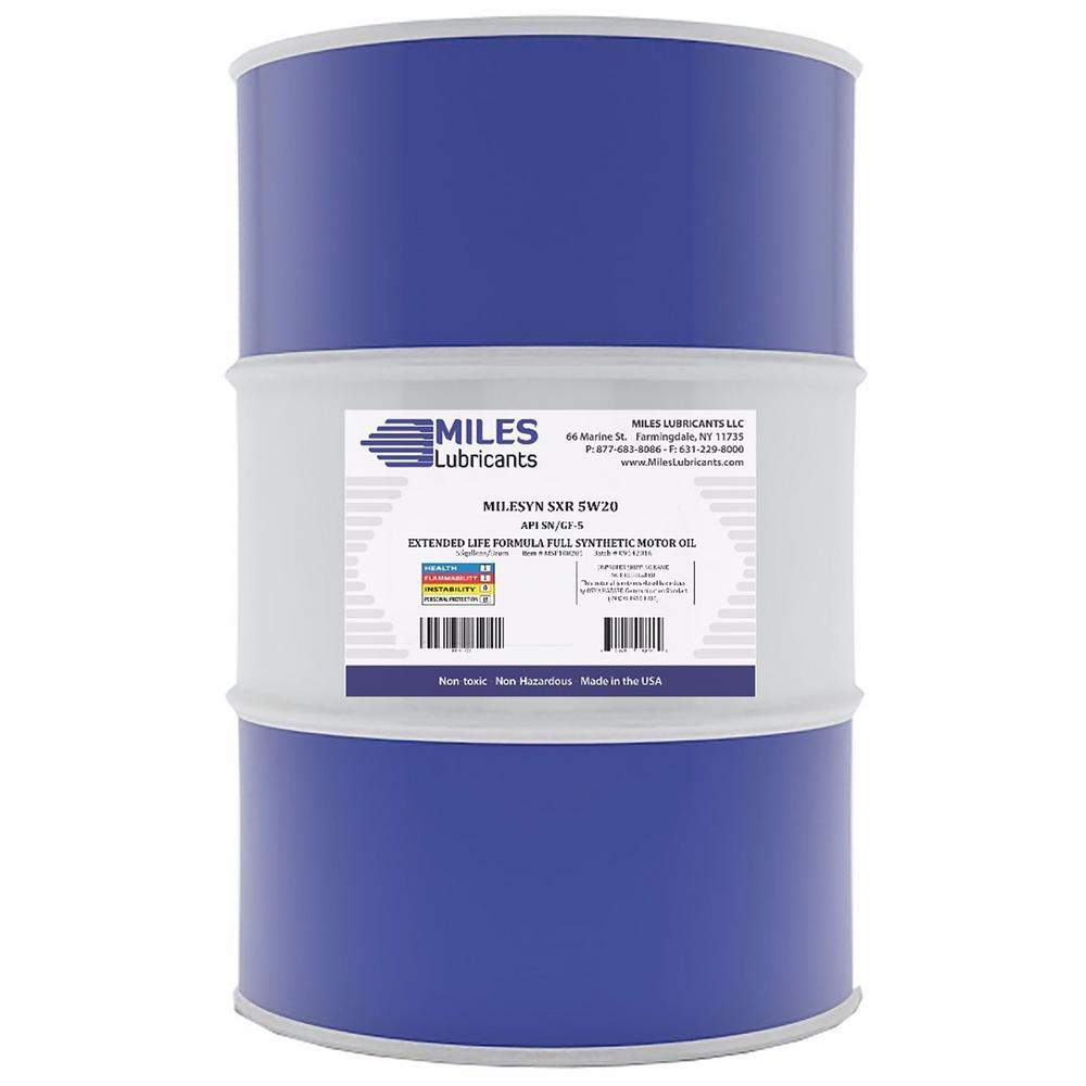 Milesyn SXR 5W20 API GF-5/SN  55 Gal. Full Synthetic Motor Oil Drum