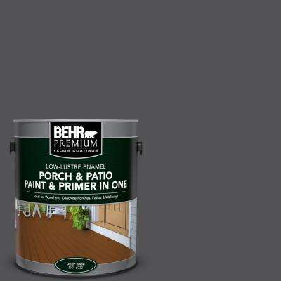 1 gal. #BXC-30 Black Space Low-Lustre Interior/Exterior Paint and Primer In One Porch and Patio Floor Paint
