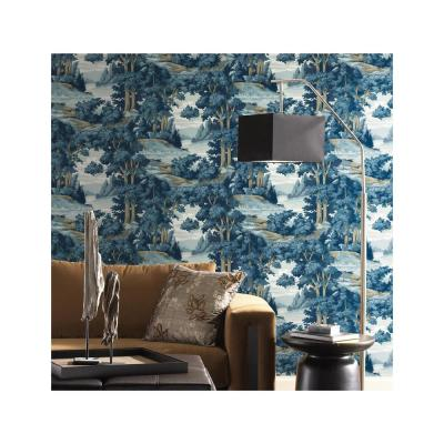 56 sq. ft. Tailored Forest Lake Scenic Wallpaper