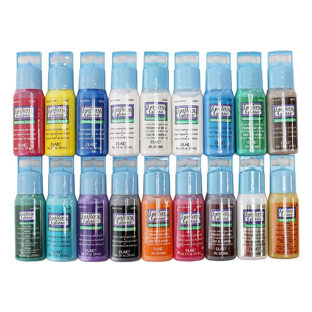 Gallery Glass 2 Oz Window Color Acrylic Paint Set Best Selling Colors I 18