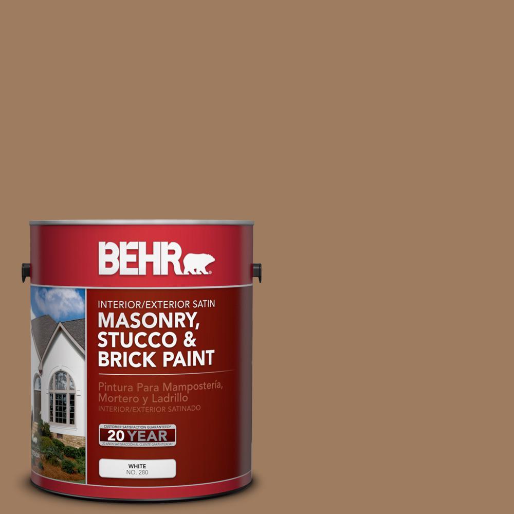1 gal. #BXC-08 Safari Brown Satin Interior/Exterior Masonry, Stucco and Brick Paint