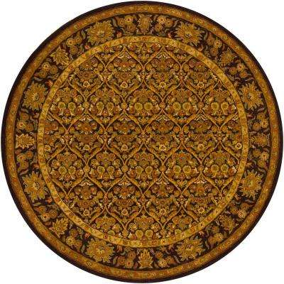 Metro Brown/Yellow/Green/Beige 8 ft. Indoor Round Area Rug