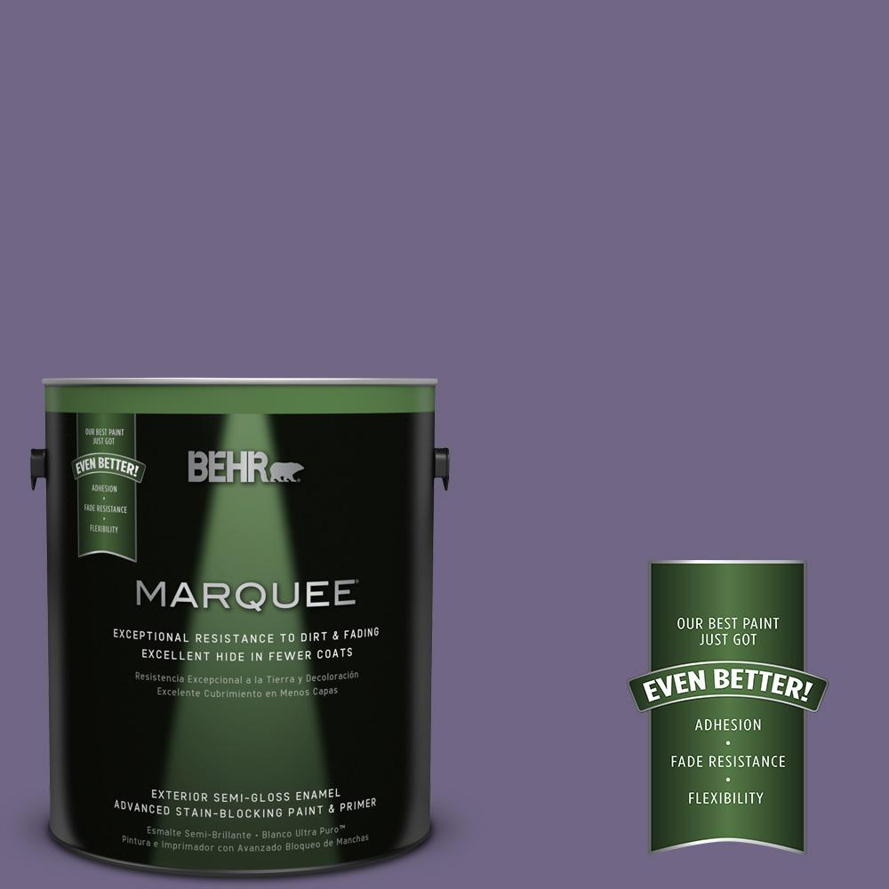 BEHR MARQUEE 1-gal. #PPU16-18 Hyacinth Arbor Semi-Gloss Enamel Exterior Paint