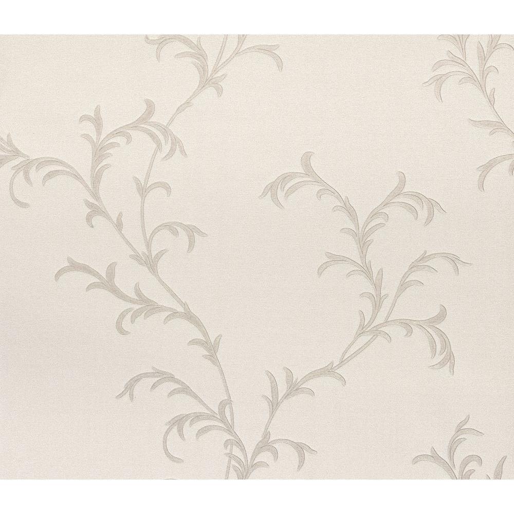 Spazio Vittorio Platinum Trailing Vine Wallpaper