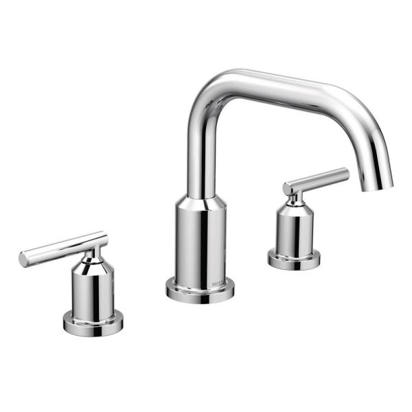 Gibson 2-Handle Deck-Mount Roman Tub Faucet in Chrome