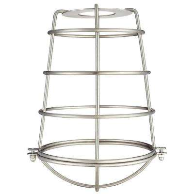 8-3/16 in. Brushed Nickel Industrial Cage Metal Shade with 2-1/4 in. Fitter and 6-5/16 in. Width