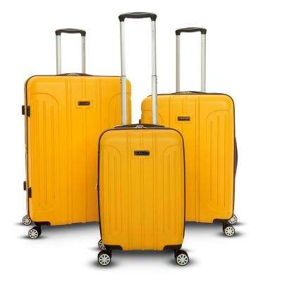 Viva Collection 3-Piece Yellow Spinner Luggage Set