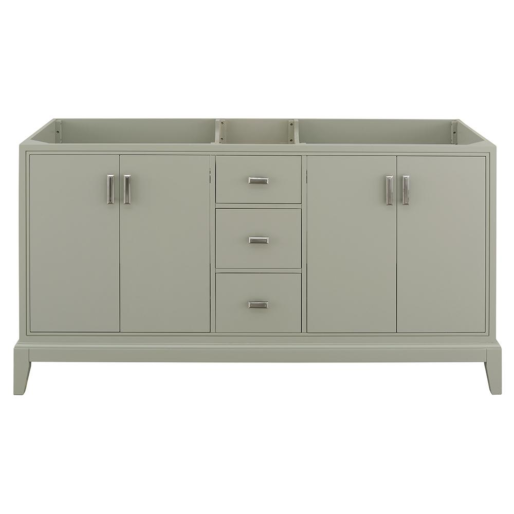 Home Decorators Collection Shaelyn 60 in. W x 21.75 in. D Vanity Cabinet Only in Sage Green