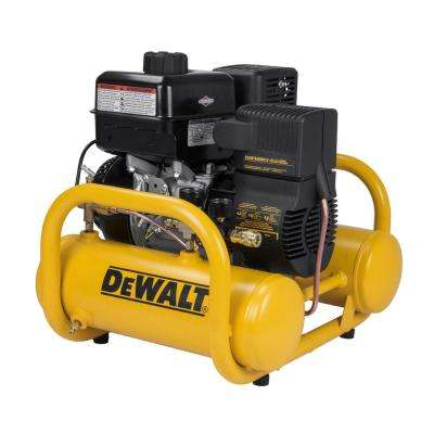 4 Gal. Portable Briggs and Stratton Gas Powered Oil Free Direct Drive Air Compressor