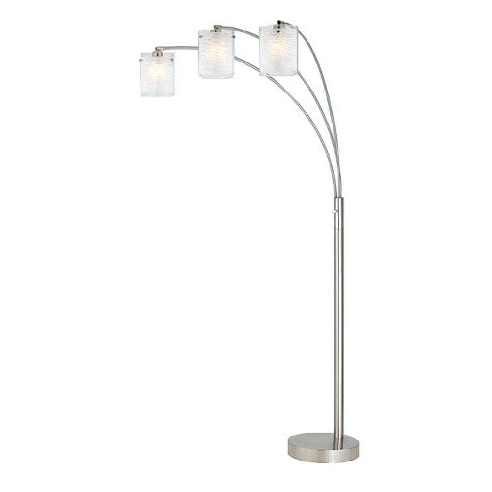 Filament Design Cooper 82 in. Brushed Steel Incandescent Floor Lamp-DISCONTINUED