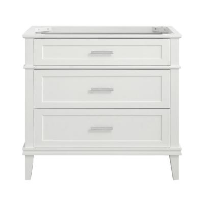 Woodfall 35.20 in. W x 21.60 in. D Vanity Cabinet Only in White