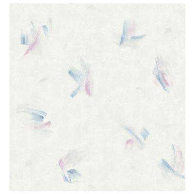 Kitchen Bath Bed Resource III Off-White Brushstrokes Wallpaper Sample