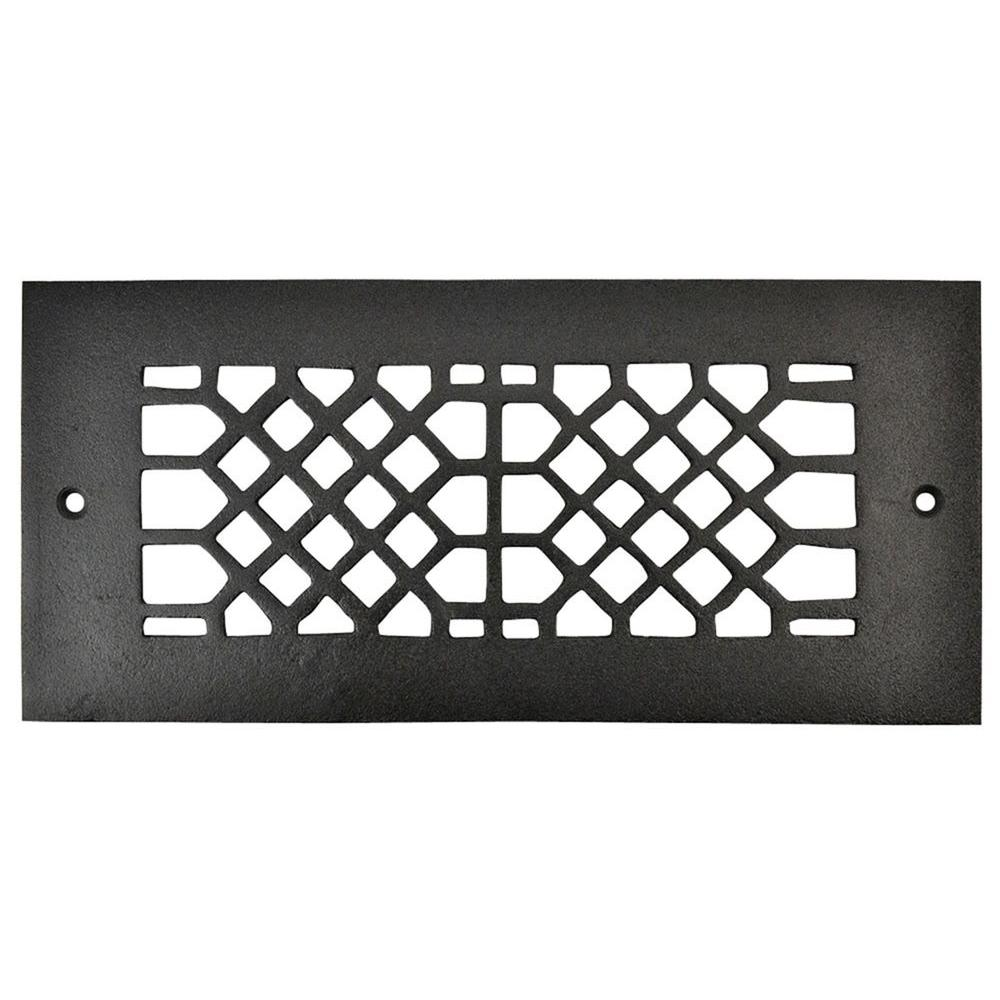 Copper Mountain Hardware 10 in. x 4 in. Cast Iron Grille