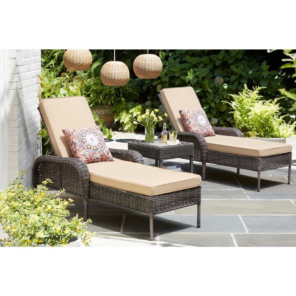 Cambridge Gray Wicker Outdoor Side Table