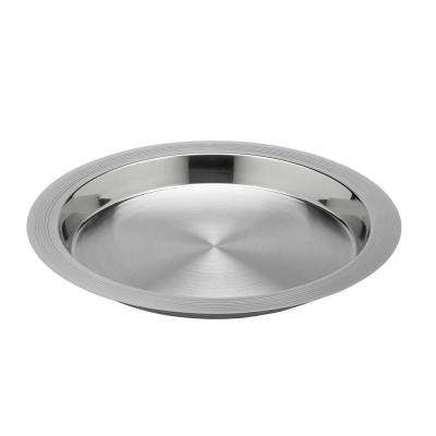 Groove 14 in. Polished Stainless Serving Tray