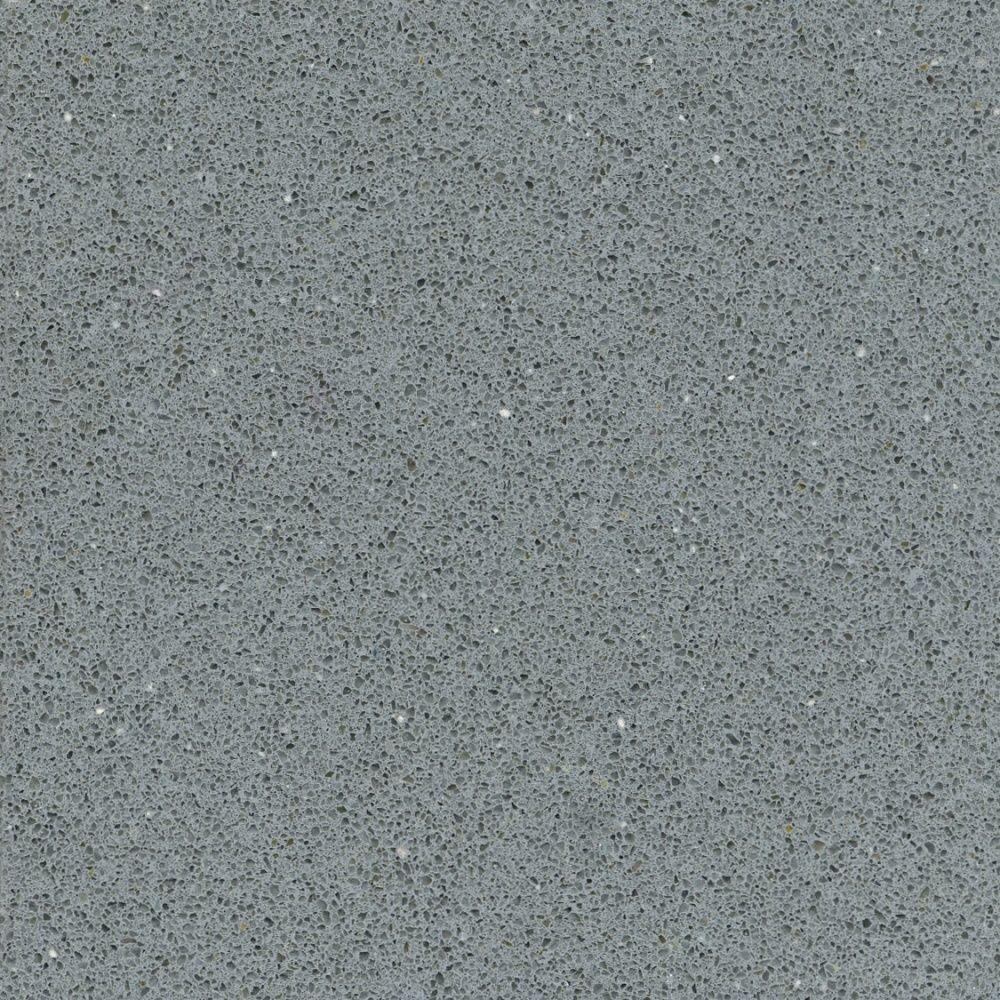 2 in. x 4 in. Quartz Countertop Sample in Grey Expo