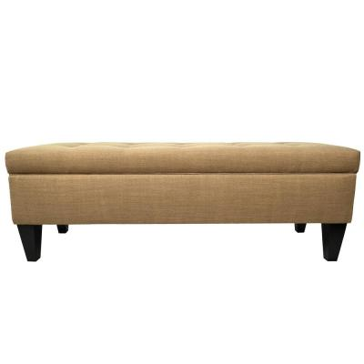Brooke B-Allure Pebble Button Tufted Upholstered Storage Bench