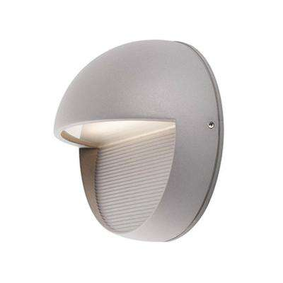 Aurora Gray Outdoor Integrated LED Wall Mount Sconce