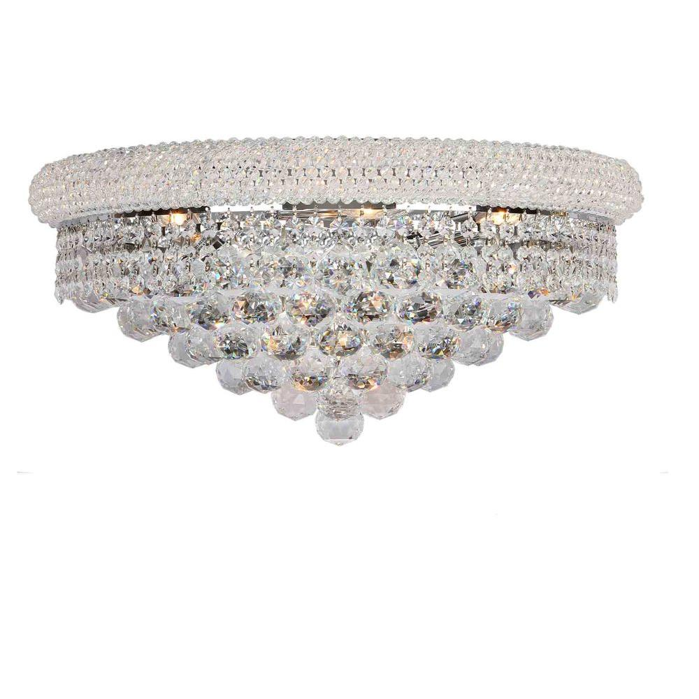 Empire Collection 4-Light Chrome and Clear Crystal Sconce