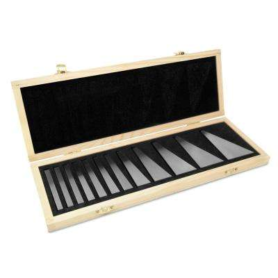 3 in. Steel Angle Gauge Block Set with Case (12-Piece)